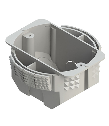 caixa elétrica snap fit da Plasticon