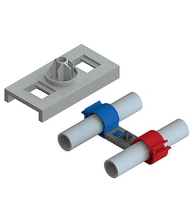 suporte universal modular Quick Fit da plasticon