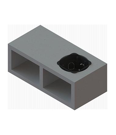 caixa elétrica no bloco de concreto de concreto