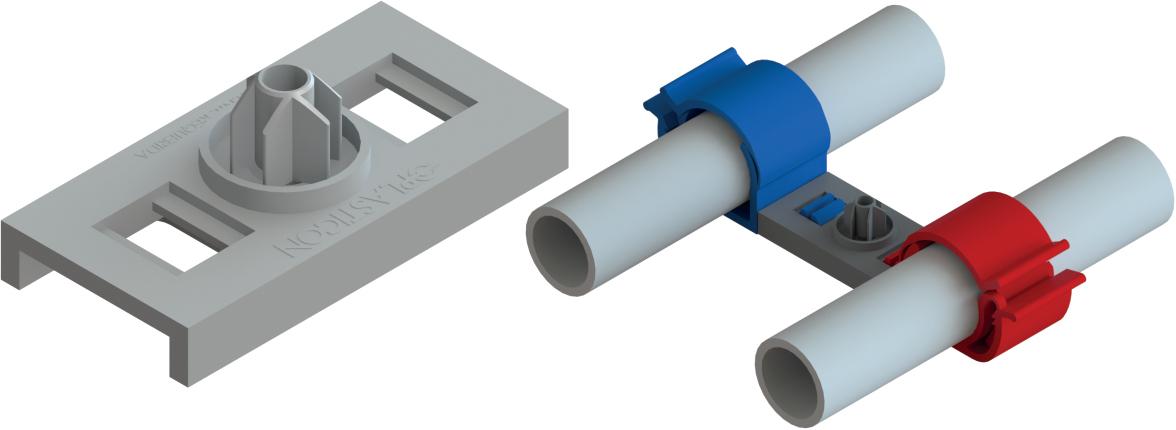 suporte modular Quick Fit da plasticon